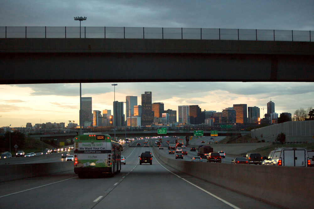 US Highway 36 Express Toll Lanes at Dusk | Plenary Roads Denver